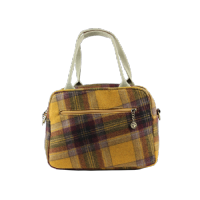 House of Tweed Tote Bag Handbag in Yellow Tweed